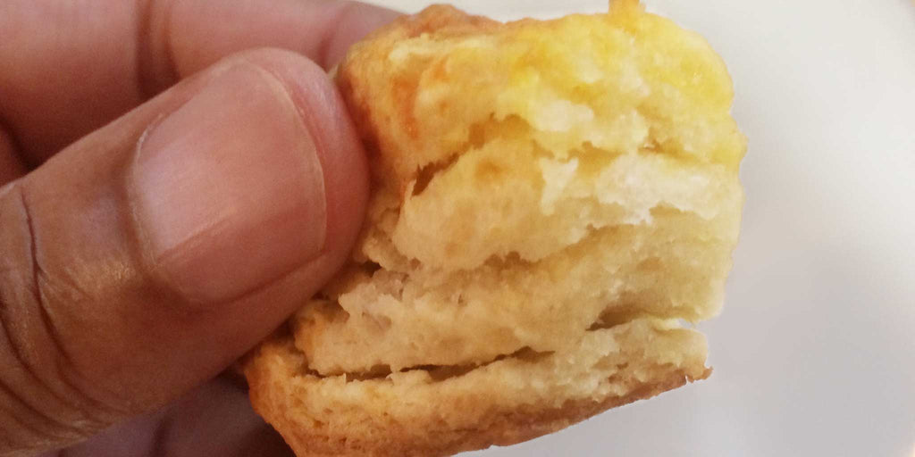 Flaky cheddar butter biscuit bite
