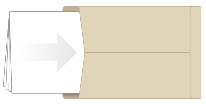Folded poster in envelope