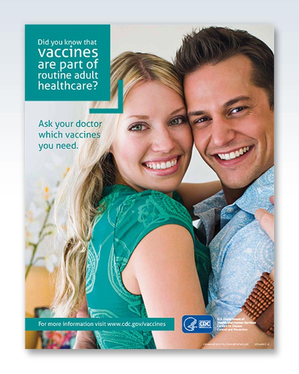 Adult Vaccines Healthcare Poster