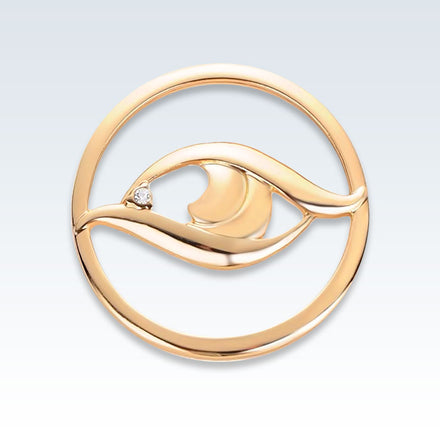 Anatomical Eye Lapel Pin Gold