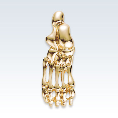 Anatomical Foot Bones Gold Lapel Pin