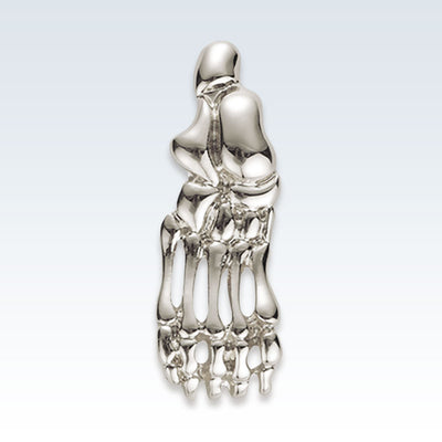 Anatomical Foot Bones Silver Lapel Pin