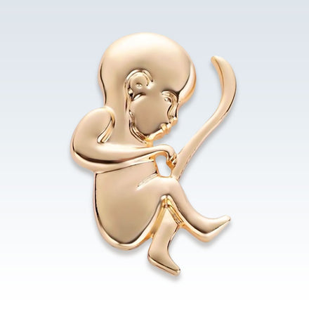 Anatomical Obstetrics Infant Lapel Pin Gold