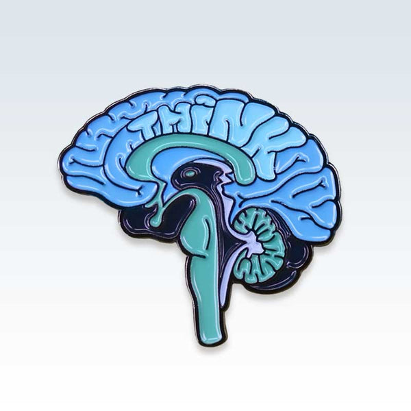 Anatomical Blue Brain Lapel Pin