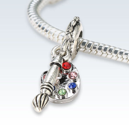 Artists Paintbrush Silver Alloy Charm