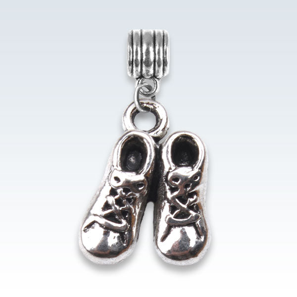 Baby Booties Antique Metal Charm