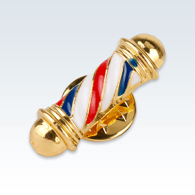Gold Barbers Pole Lapel Pin
