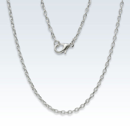 Silver Plated Basic Chain Necklace