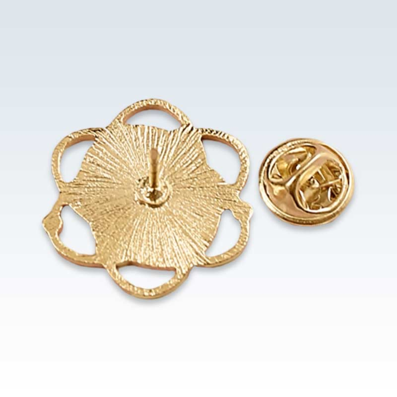 Believe Science Gold Atom Lapel Pin Back