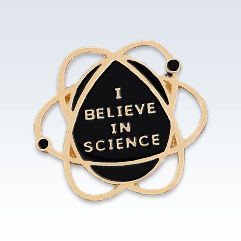 Believe Science Gold Atom Lapel Pin