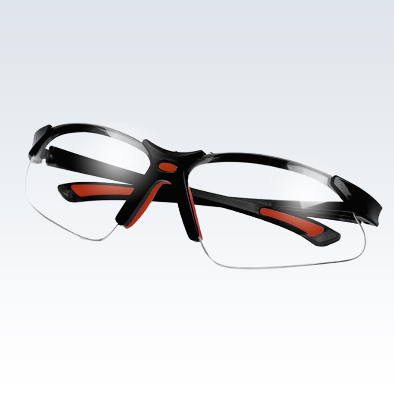 Black and Red Safety Glasses
