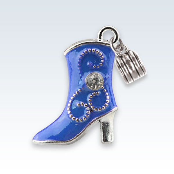 Enameled Boot Charm Blue