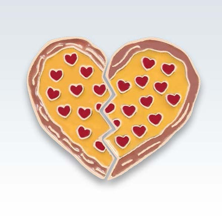 Broken Pizza Heart Enamel Lapel Pin