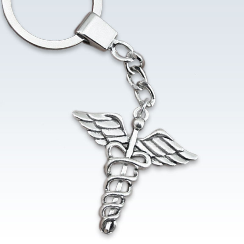 Caduceus Medical Keychain