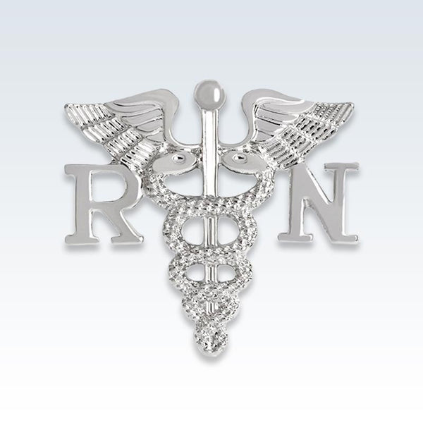 RN Caduceus Silver Lapel Pin