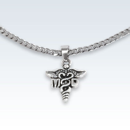 Medical Doctor MD Metal Pendant