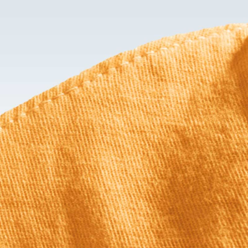 Cotton Orange Child Mask Fabric Detail