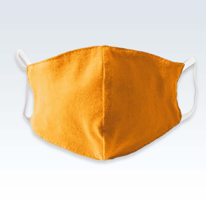 Cotton Solid Orange Child Mask