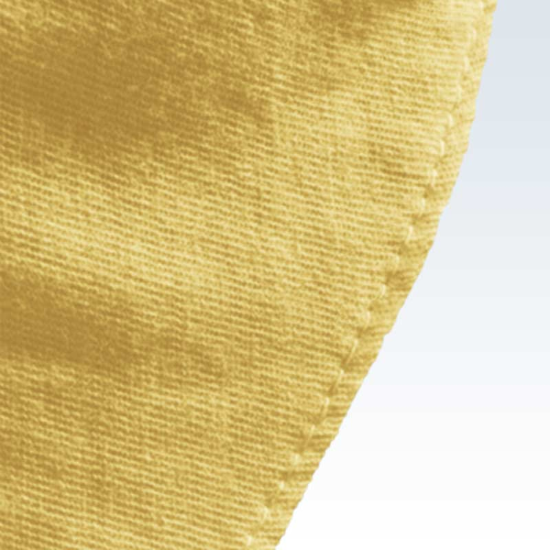 Cotton Solid Yellow Child Mask Detail