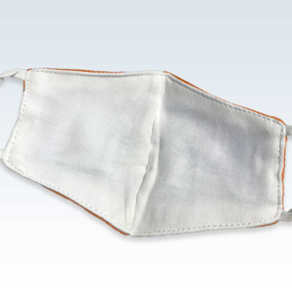 Cotton Solid Orange Child Mask Interior
