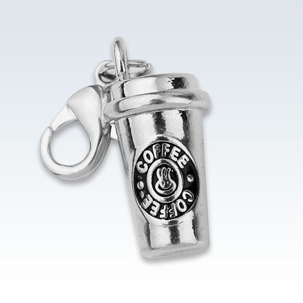 Coffee Cup Metal Charm