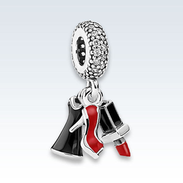 Cosmetics Enameled Metal Charm