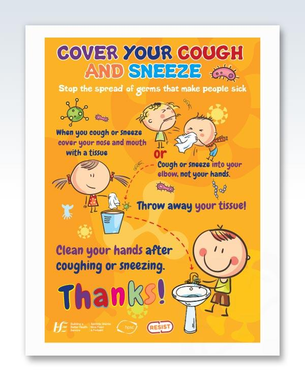 Cough Sneeze Protocol Kids Poster