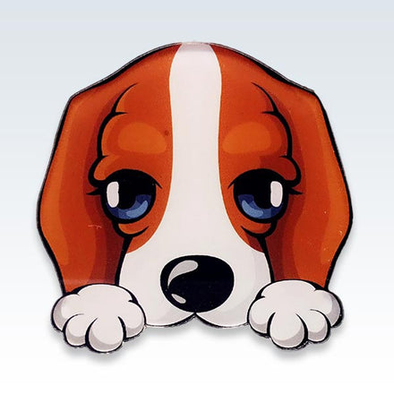 Cute Acrylic Dog Lapel Pin
