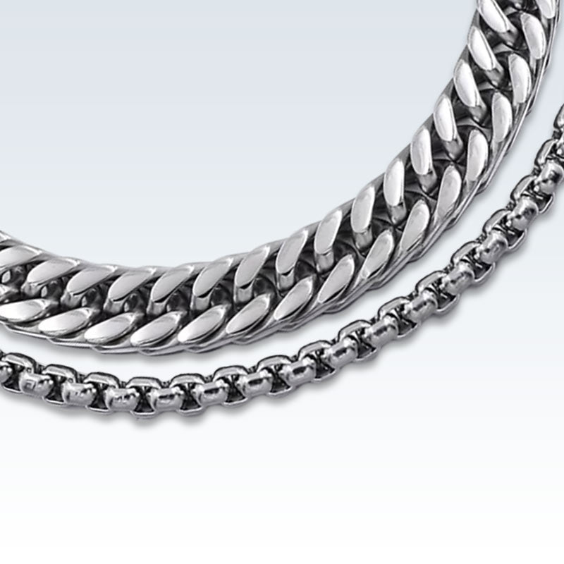 Stainless Steel Double Chain Detail
