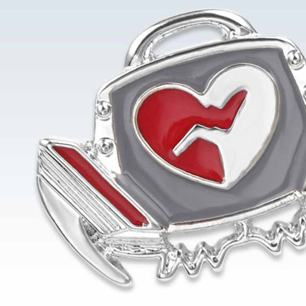 Defibrillator Lapel Pin Detail