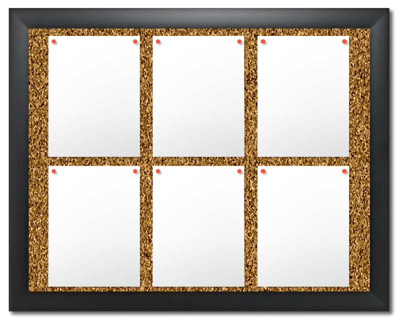 DeuPair Flip Frame Black Cork Board 24x36