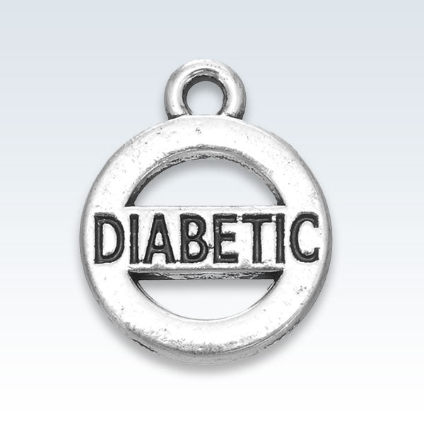 Diabetic Antique Metal Pendant