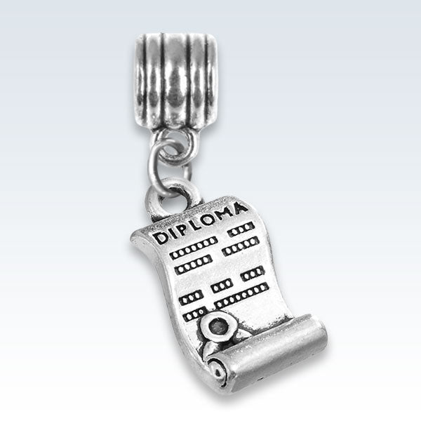 Diploma Antique Metal Charm