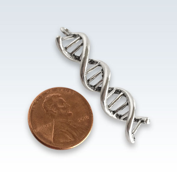 DNA Helix Antique Charm Size