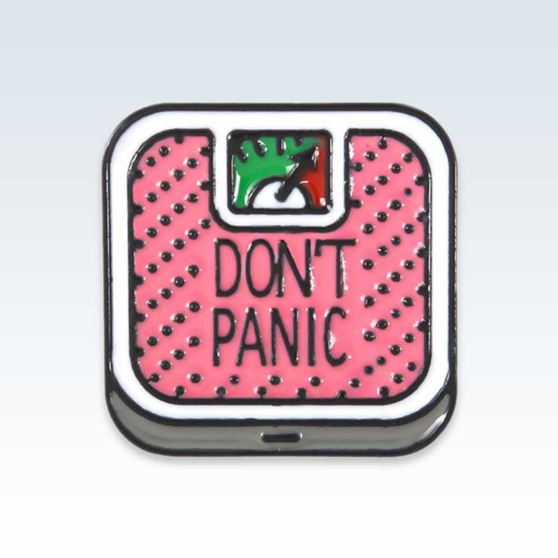 Pink Don't Panic Scale Lapel Pin