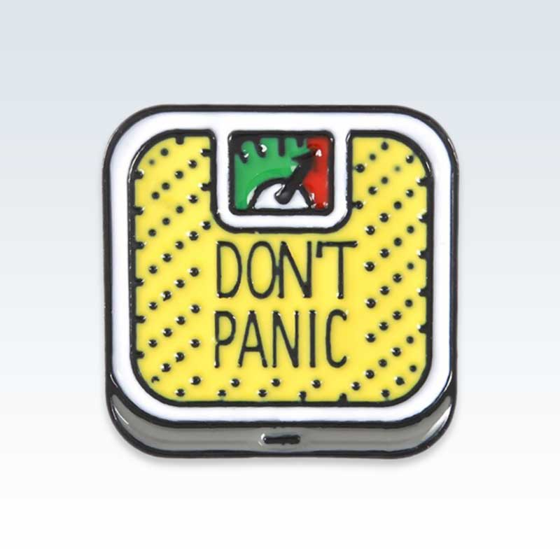 Don't Panic Scale Yellow Lapel Pin