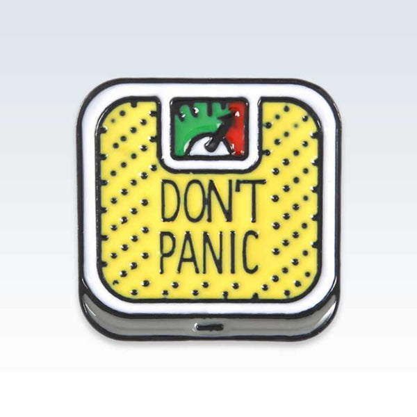 Yellow Don't Panic Scale Lapel Pin