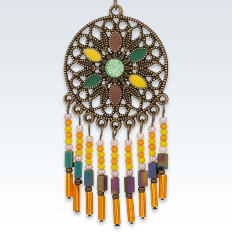 Ethnic Dangle Drop Earring Detail