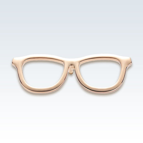 Gold Eyeglasses Lapel Pin