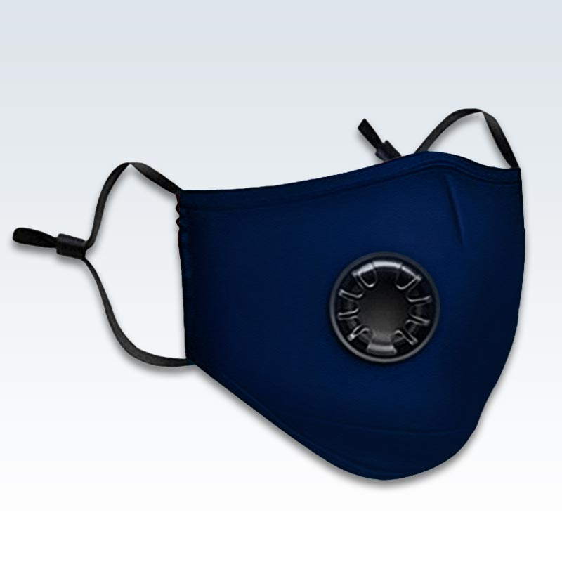 Blue Face Mask With PM 2.5