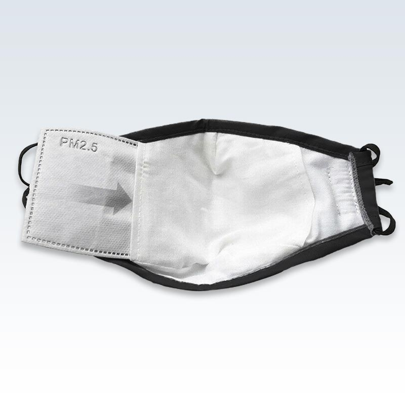 Insert Filter Black Face Mask With PM 2.5