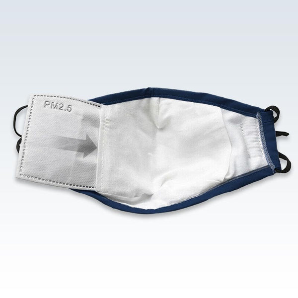 Insert PM2.5 Filter Blue Face Mask