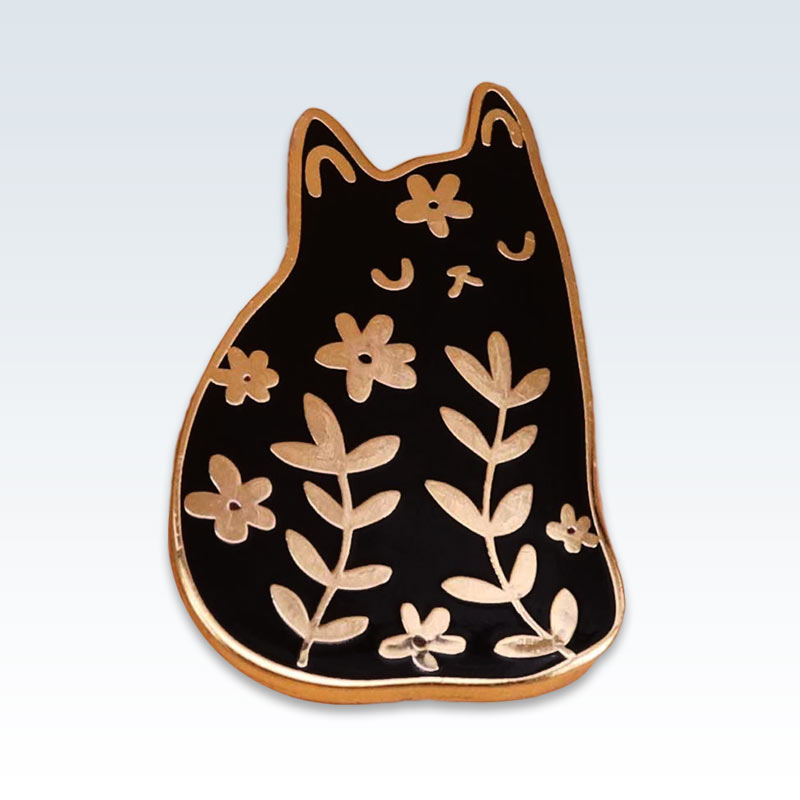 Fat Cat Lapel Pin