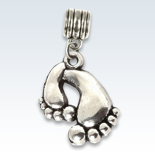Bare Feet Antique Metal Charm