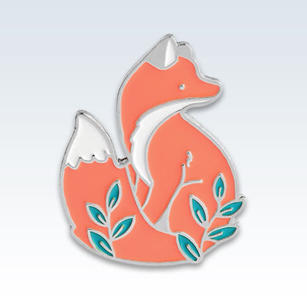 Foxy Orange Lapel Pin