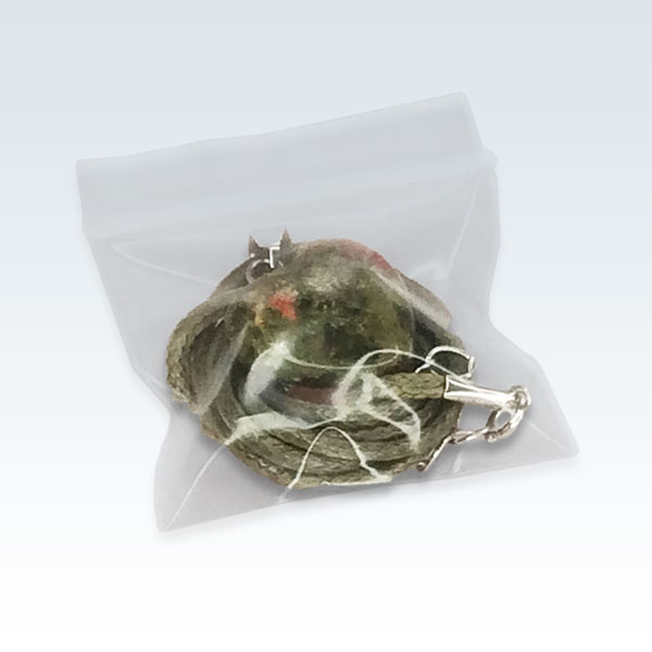 Green Stone Heart Necklace Bagged