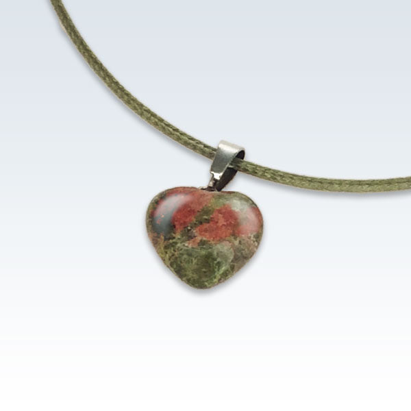 Green Stone Heart Necklace