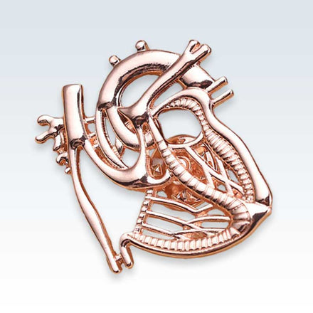 Rose Gold Dissected Heart Lapel Pin
