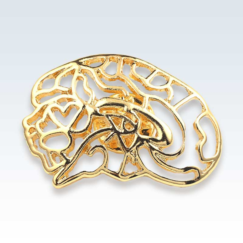 Hollow Brain Gold Lapel Pin