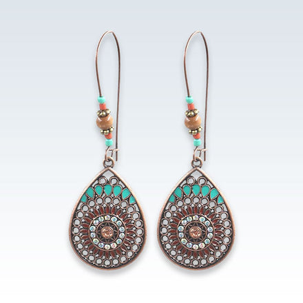 Ethnic Teardrop Hook Earrings